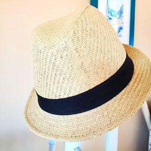 Charlotte russe straw fedora hat